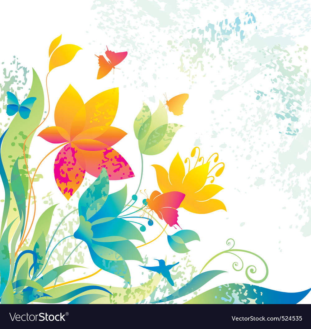Beautiful Flower Background Royalty Free Vector Image