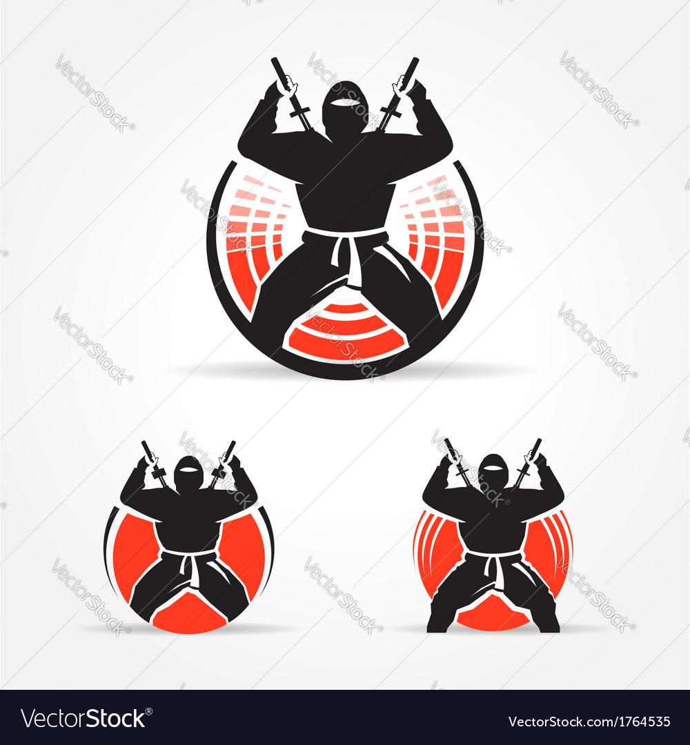 Ninja symbol emblem set