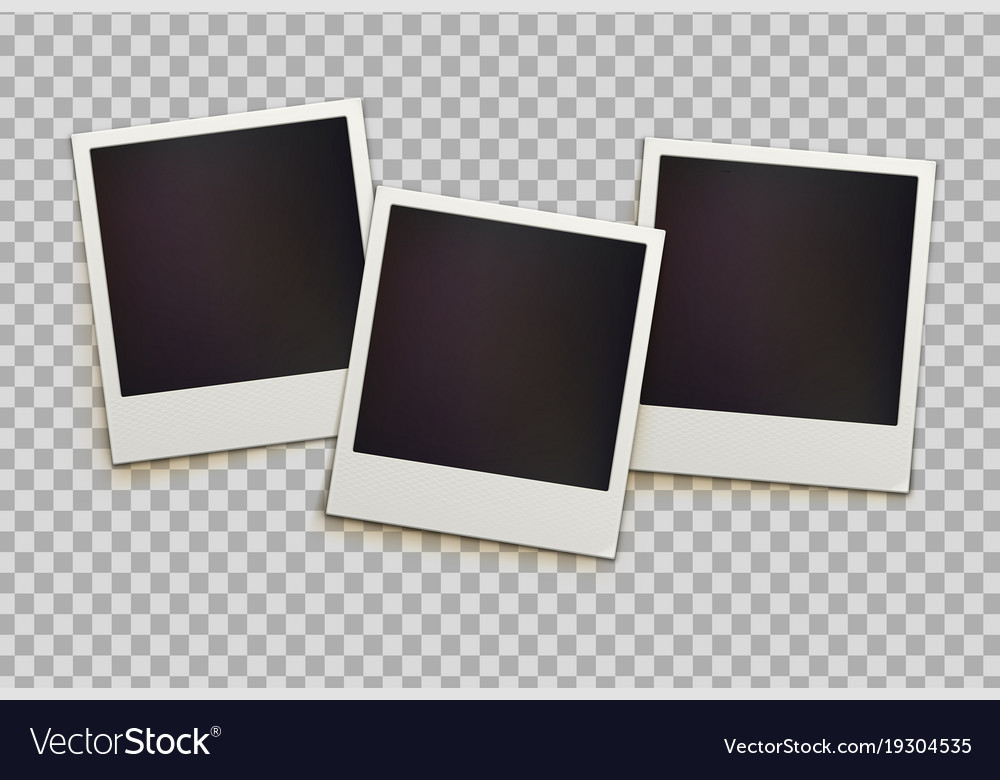 Retro Instant Photo Frames Royalty Free Vector Image