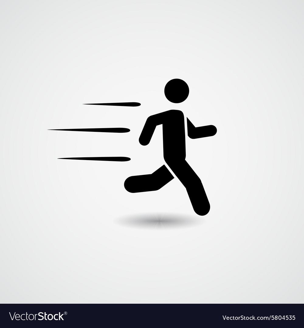 Running icon vector image