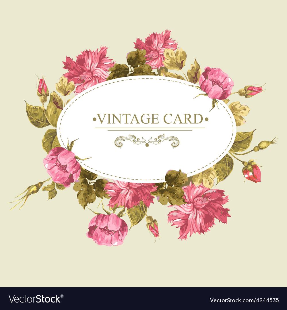 Vintage Greeting Card Watercolor