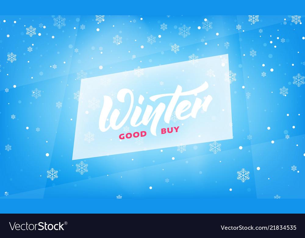Winter sale seasonal banner with winter lettering