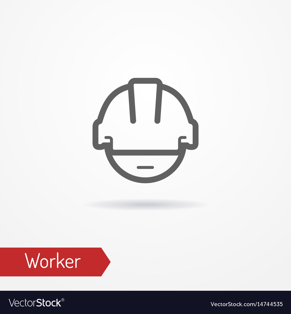 Worker face icon