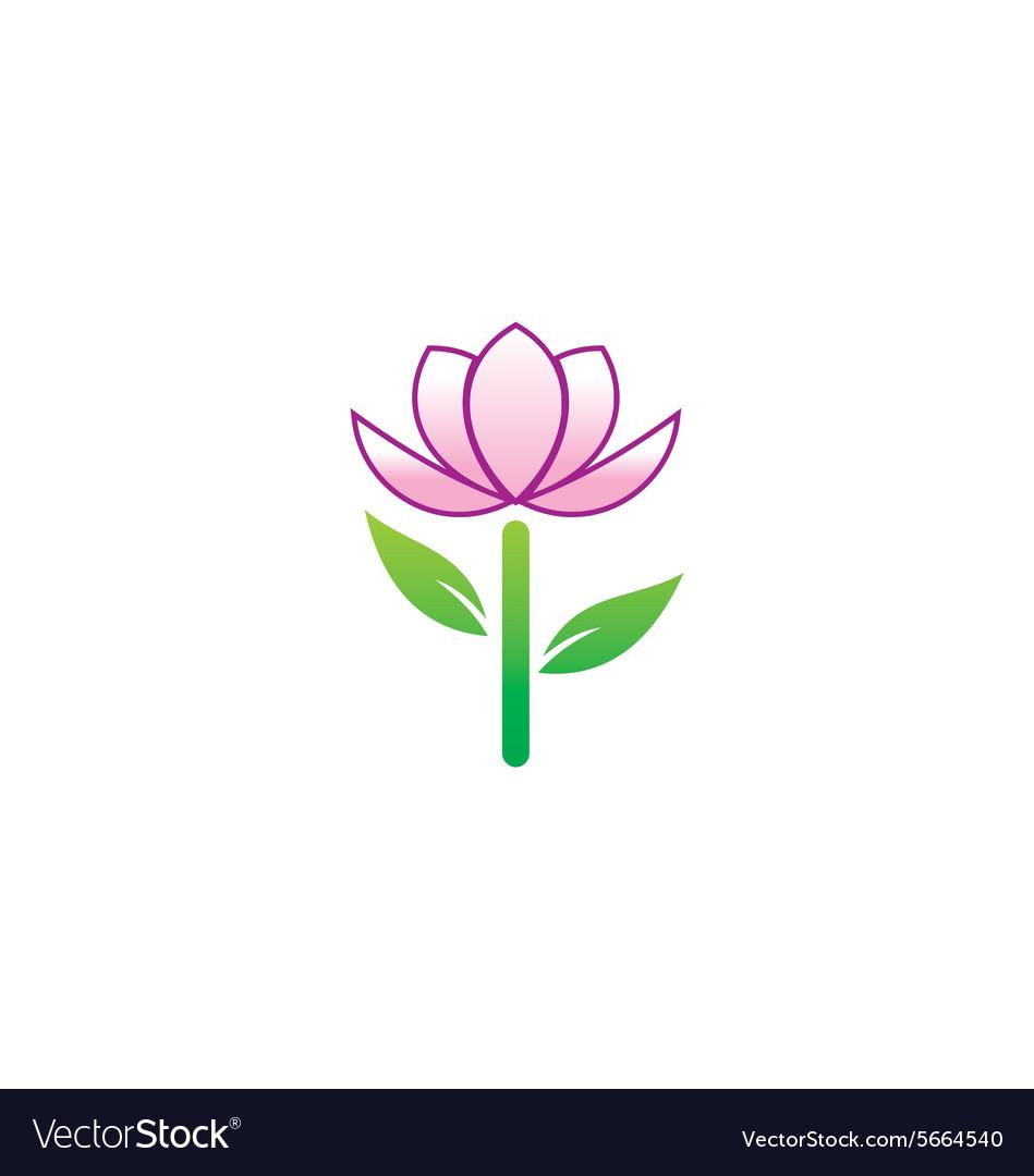 Beauty flower tree logo