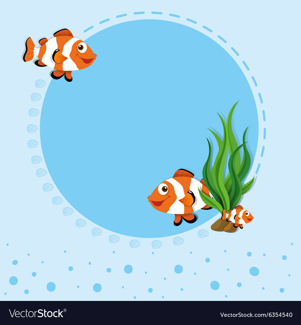 Border design with clownfish