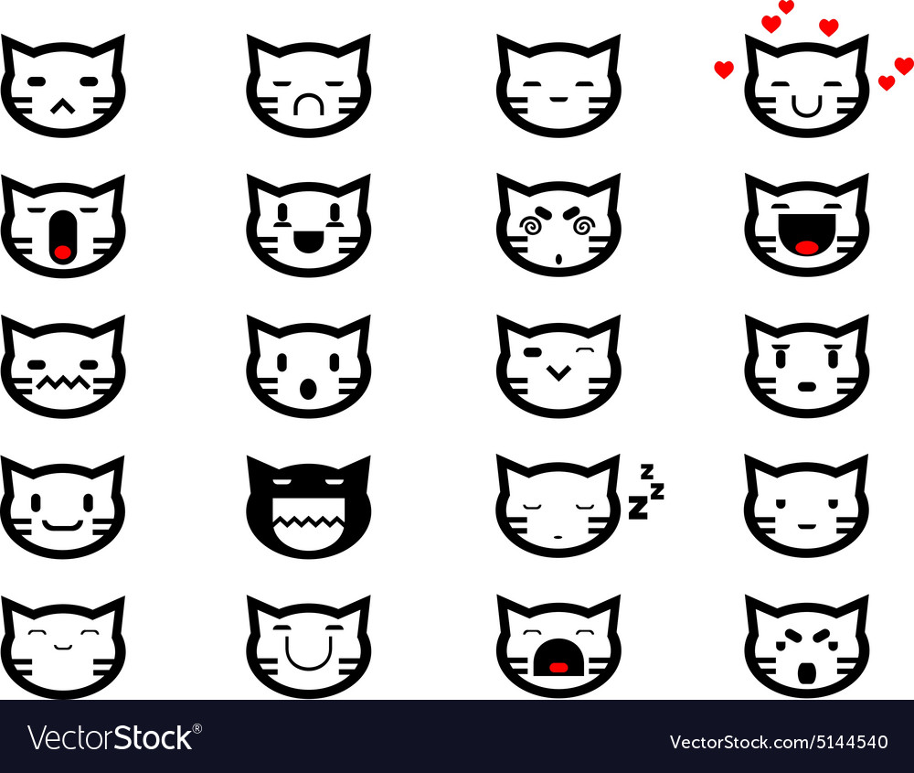 Cat face smilings vector image