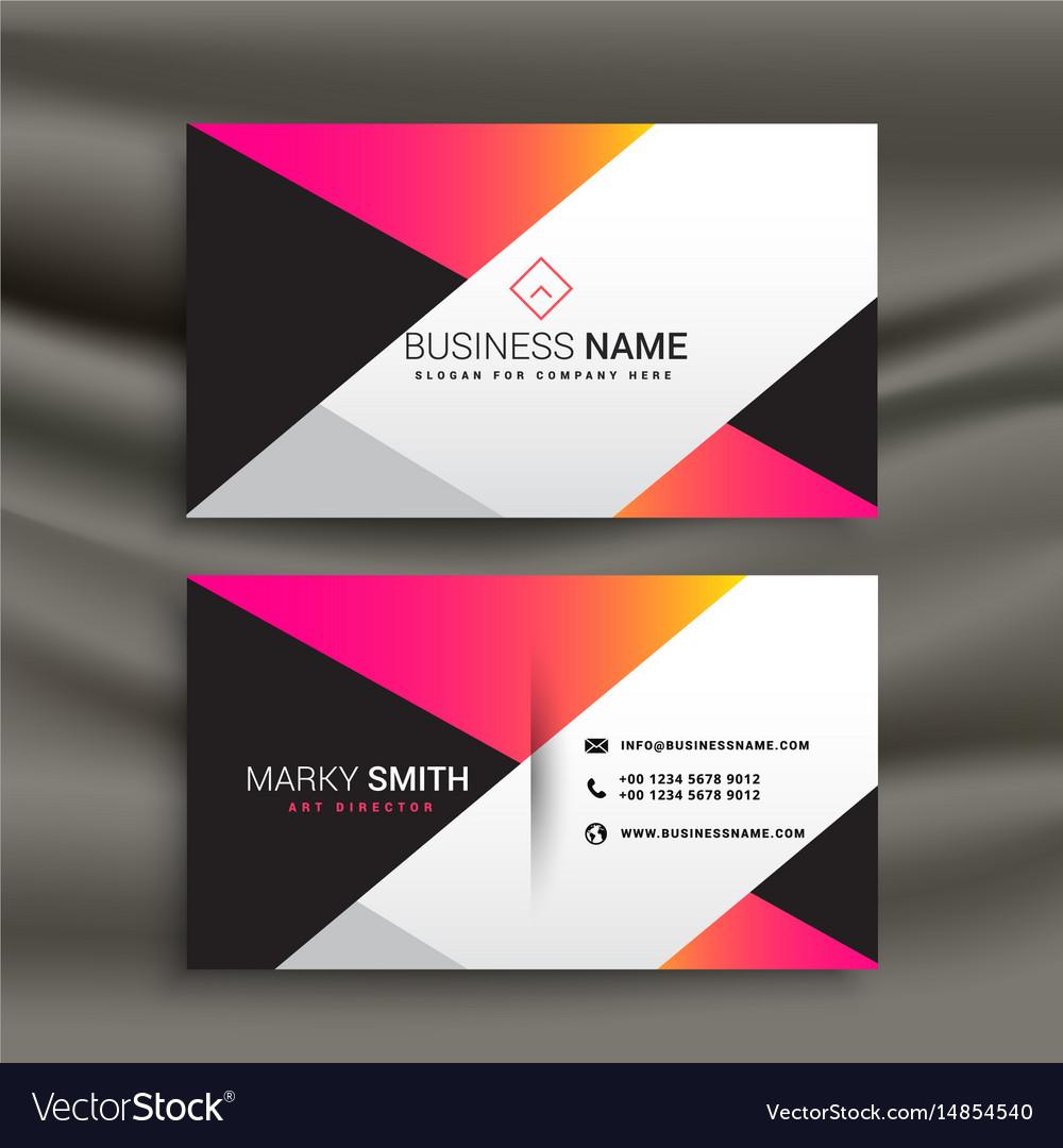 Name Card Design Template from cdn1.vectorstock.com