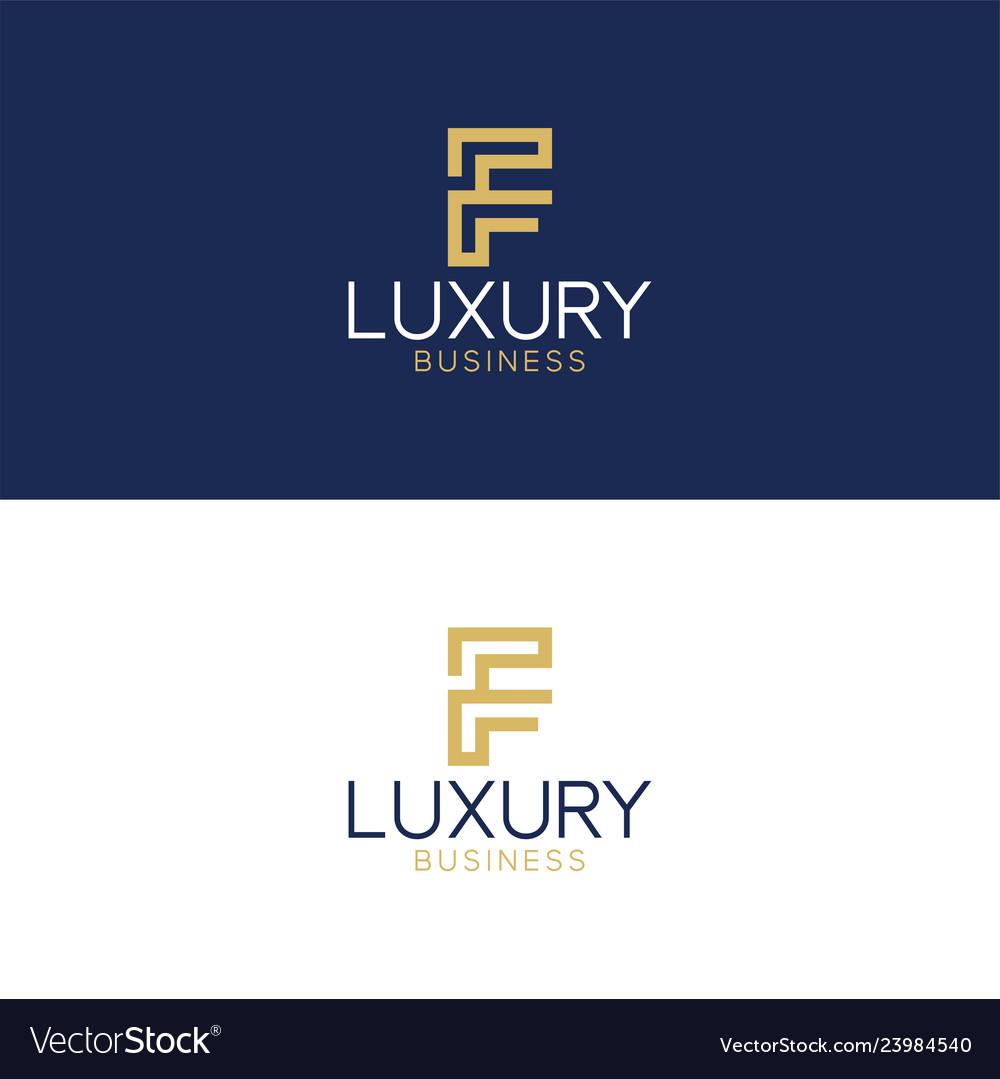 Luxury logo f modern style