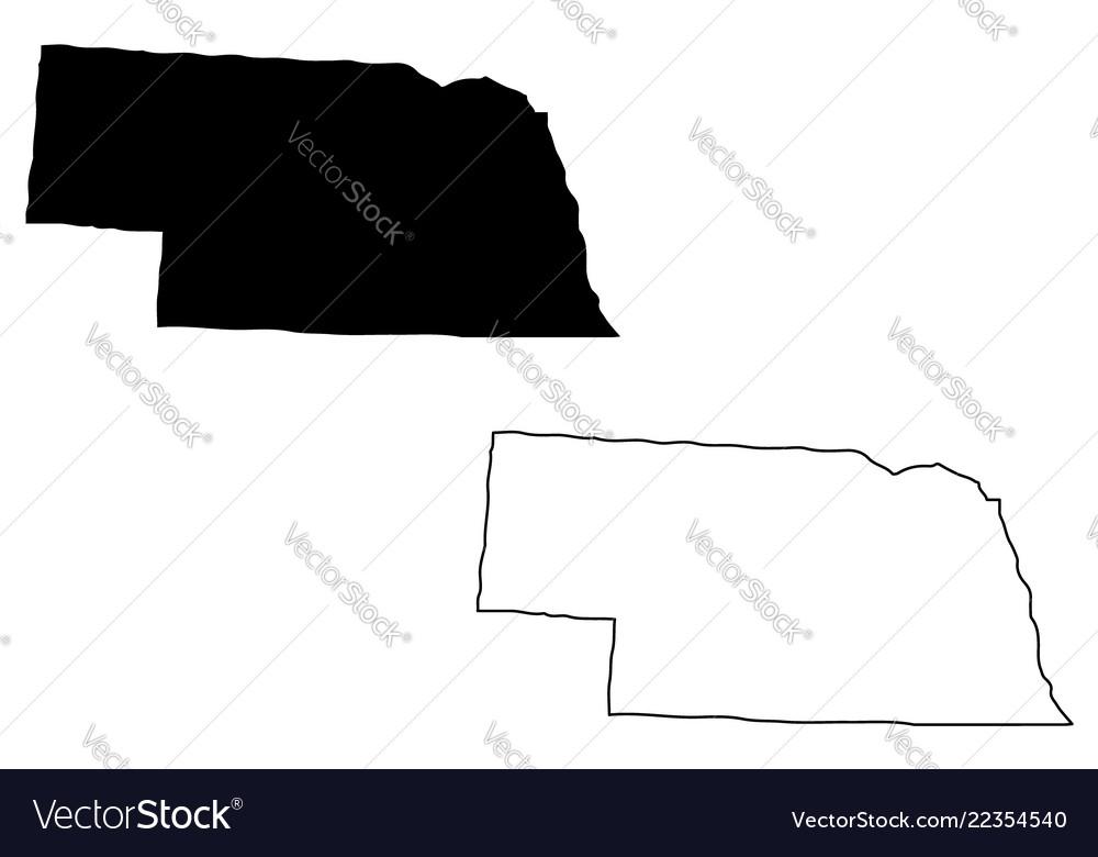 Free Nebraska Map.Nebraska Map Royalty Free Vector Image Vectorstock