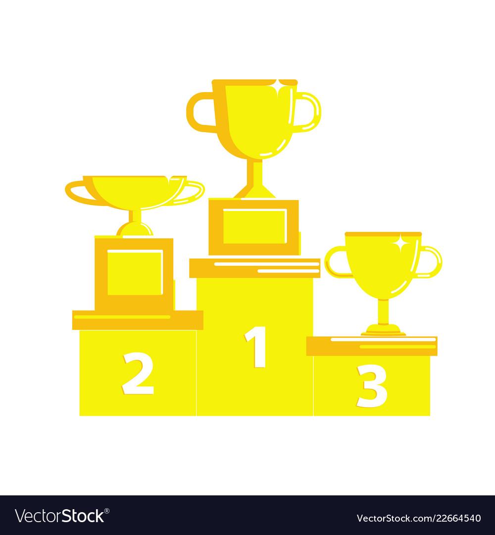 Prize award icon set