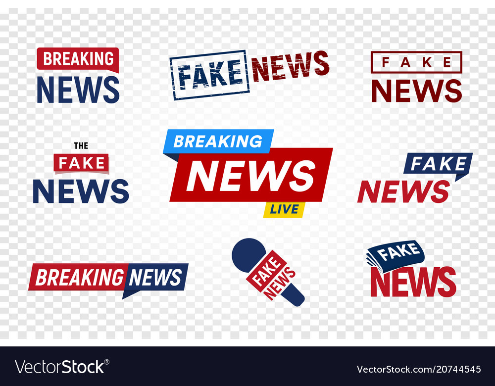 Breaking and fake news logo template on royalty free vector breaking and fake news logo template on vector image maxwellsz
