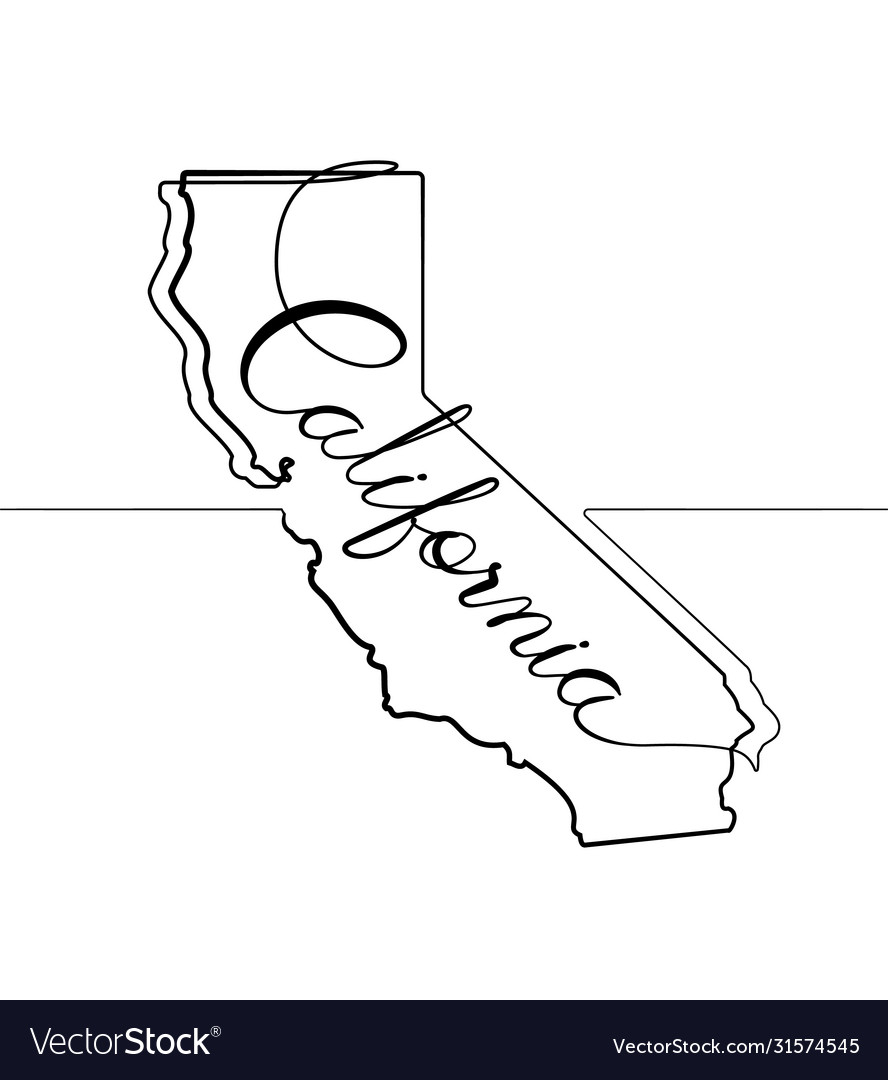 California state one line abstract icon