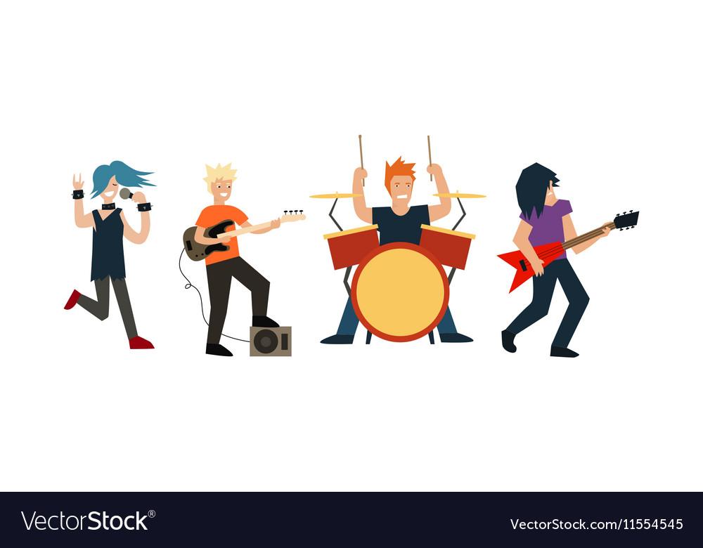 Cartoon Rock Band