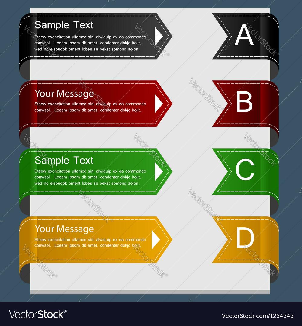 Color ribbon design template vector image
