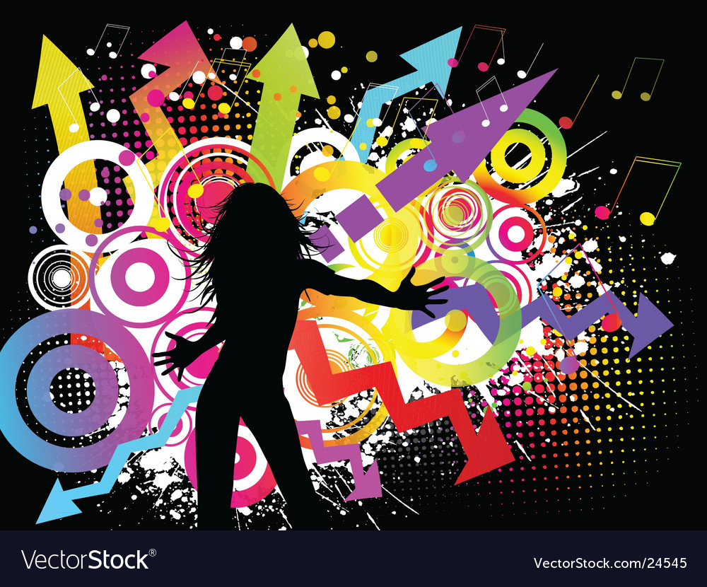 Funky party vector image