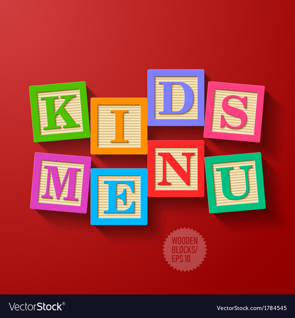 Kids Menu cover vector image