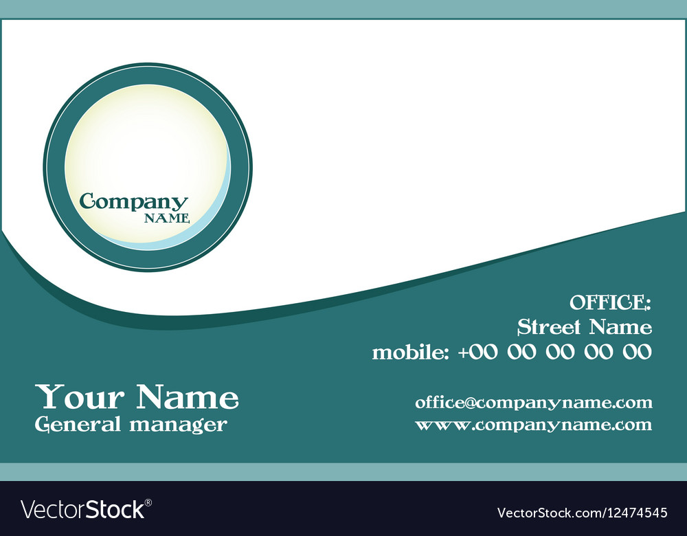 Modern creative and clean business card tem Vector Image
