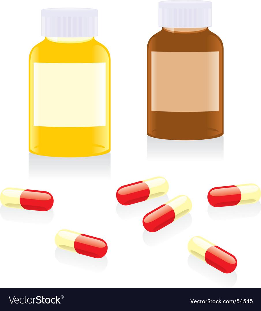 Painkiller pills and bottles