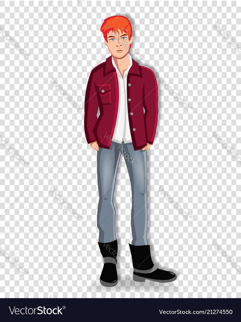 Adorable full length student boy clip art