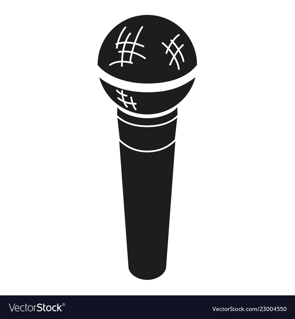 Black and white microphone silhouette