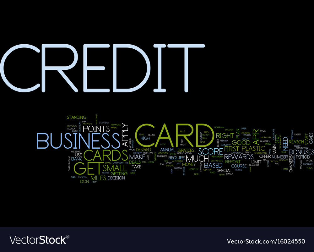First business credit card text background word Vector Image