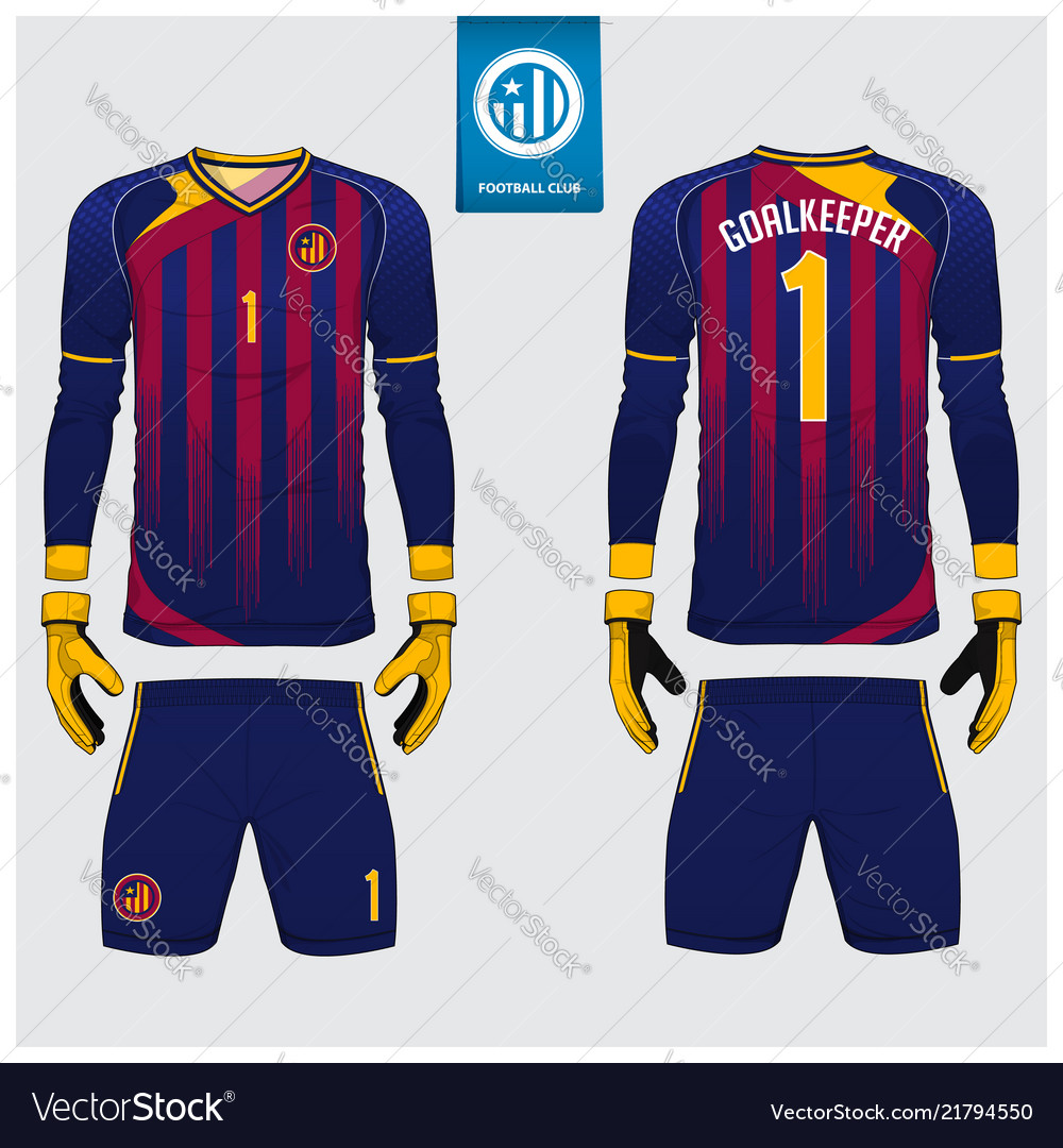 Goalkeeper jersey template design