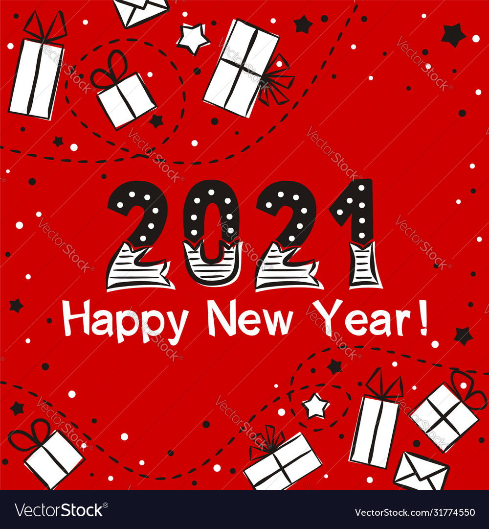 happy new year 2021 card royalty free vector image vectorstock