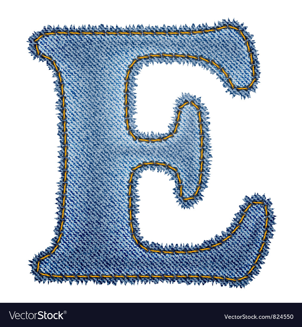Jeans alphabet denim letter e royalty free vector image jeans alphabet denim letter e vector image altavistaventures Images