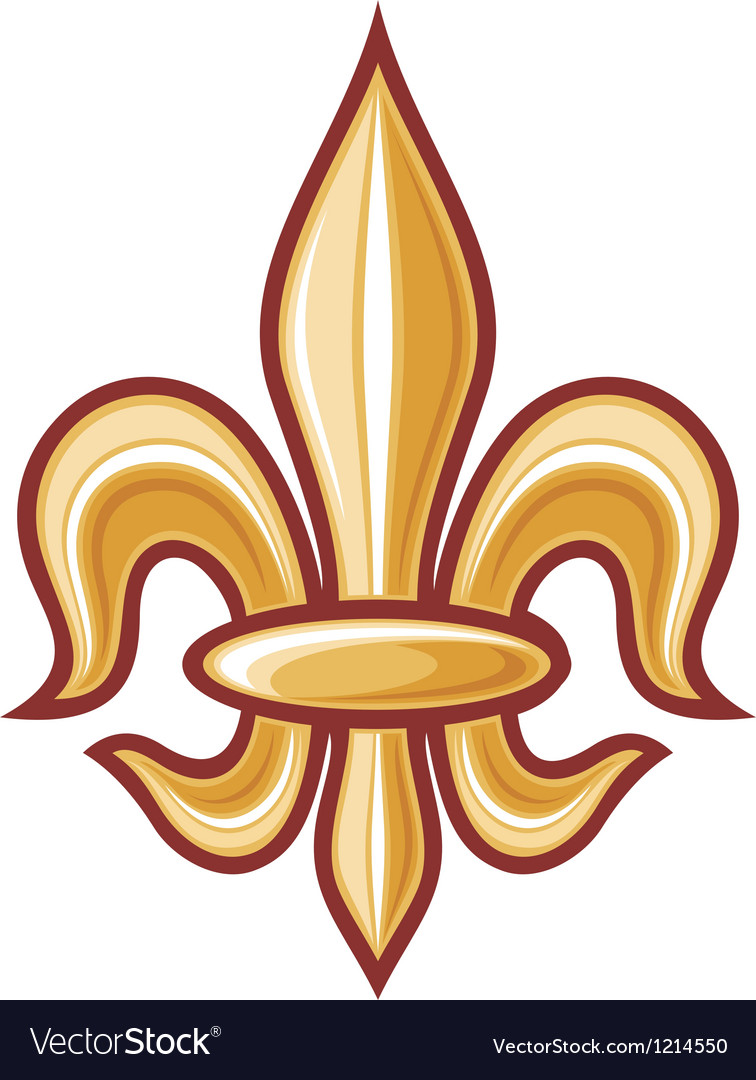 Lily flower heraldic symbol royalty free vector image lily flower heraldic symbol vector image izmirmasajfo