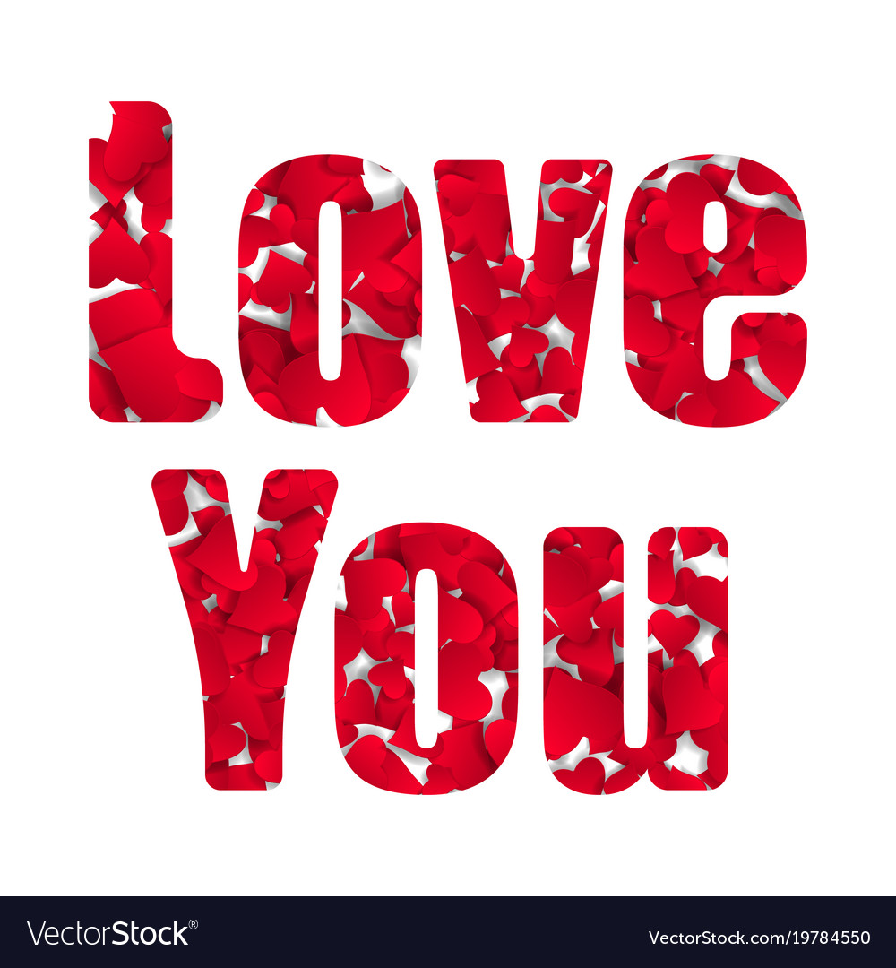 Love you happy valentines day card font type a