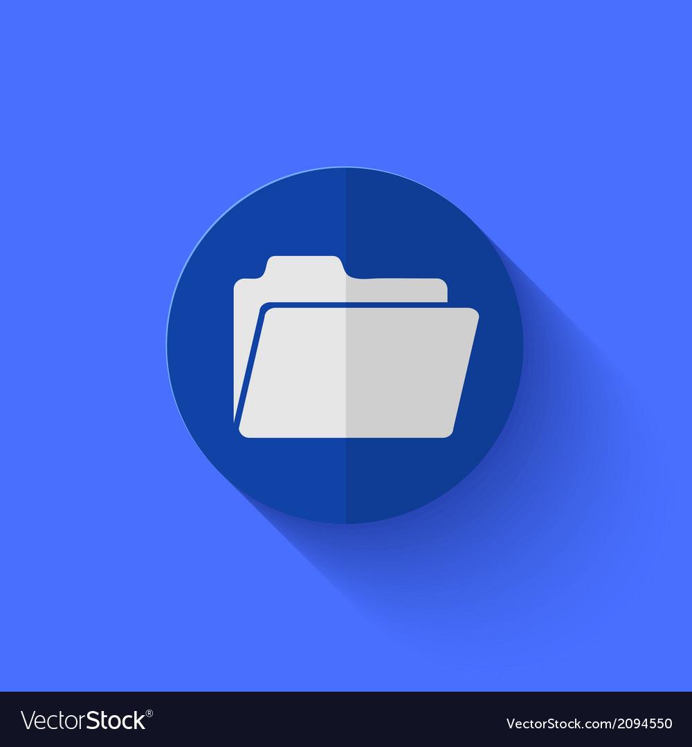 Modern flat blue circle icon