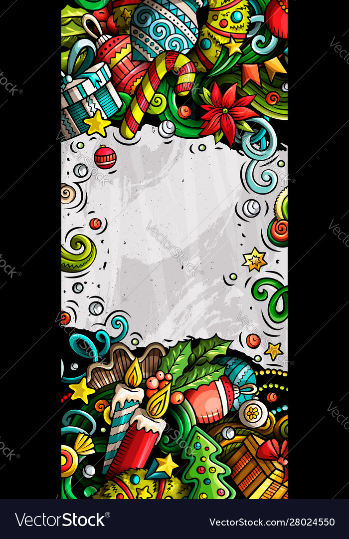New year hand drawn doodle banner cartoon
