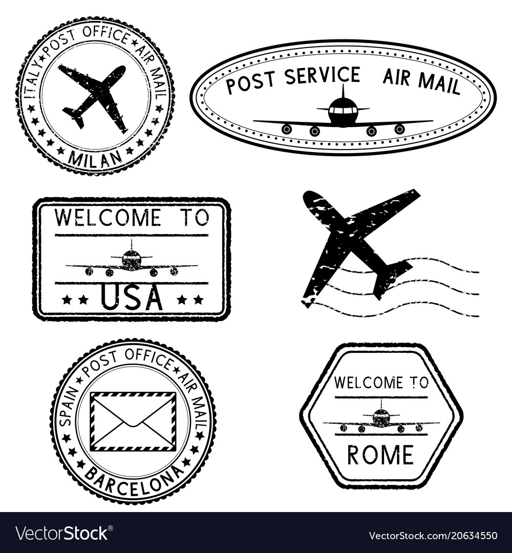 Postmarks and travel stamps