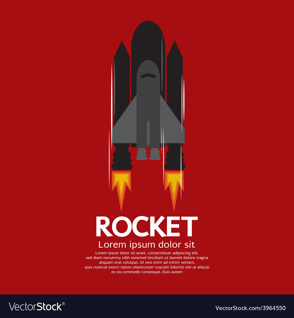 Single Rocket Fire Engine vector image
