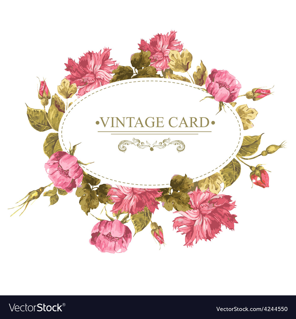 Vintage Greeting Card Watercolor