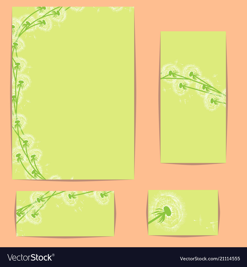 Corporate style template with dandelions