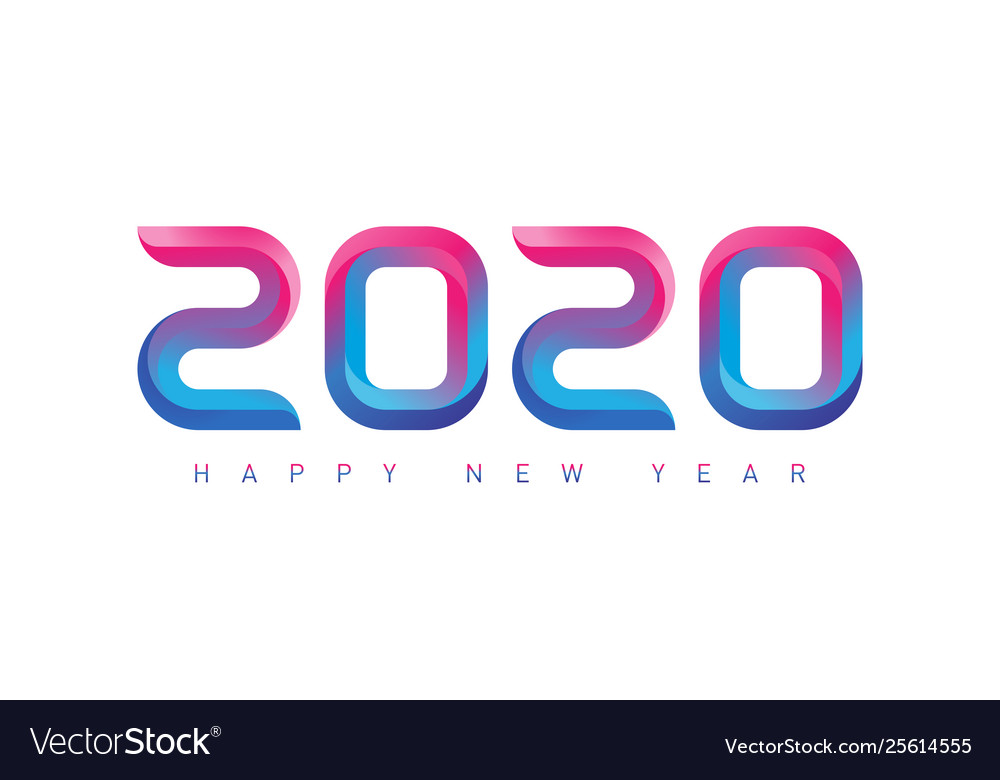 Happy new year greeting card with gradients new