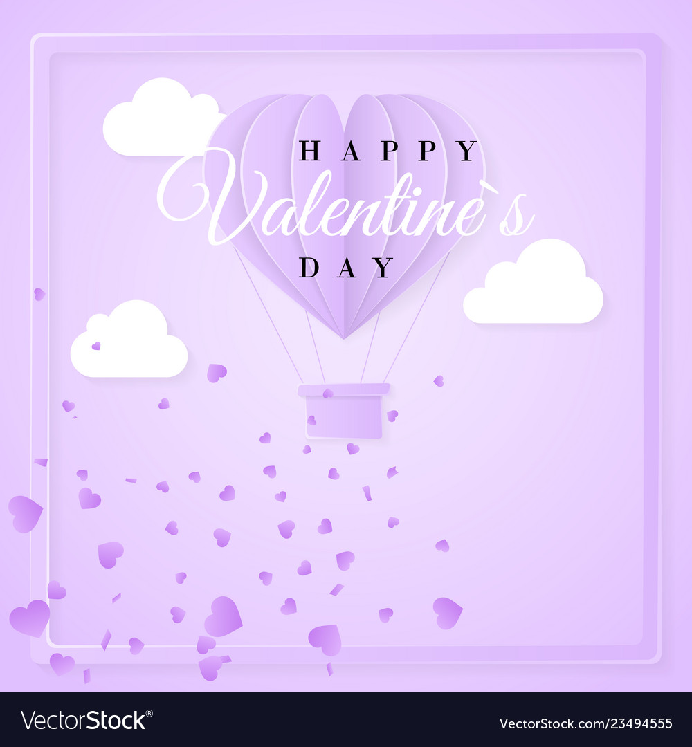 Happy valentines day retro invitation card