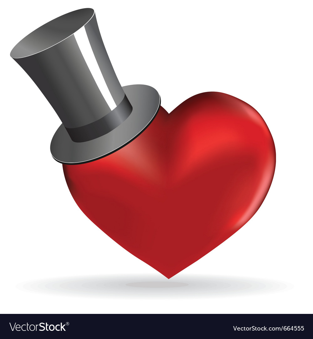 Love heart vector image