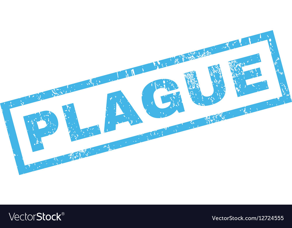 Plague Rubber Stamp