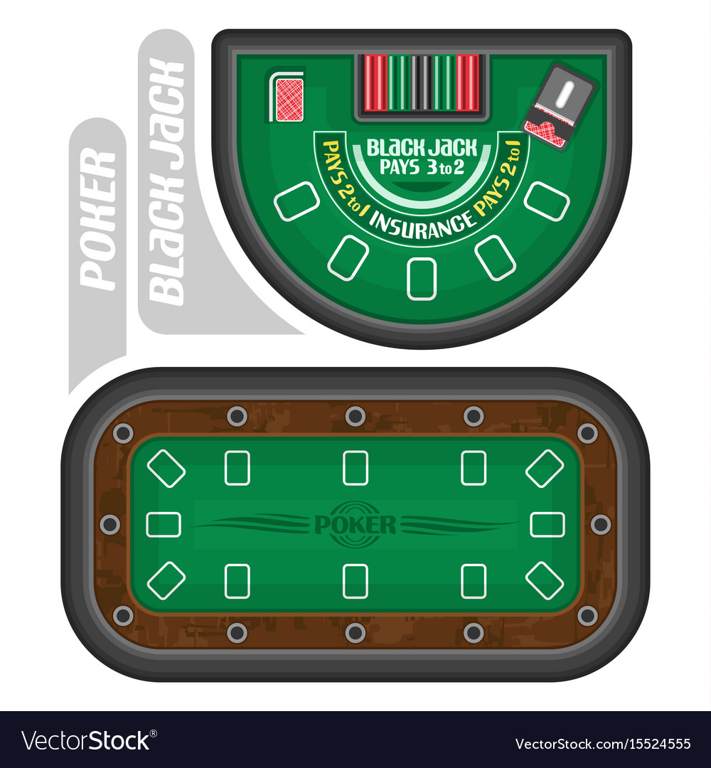 And Blackjack Tables Vector Image