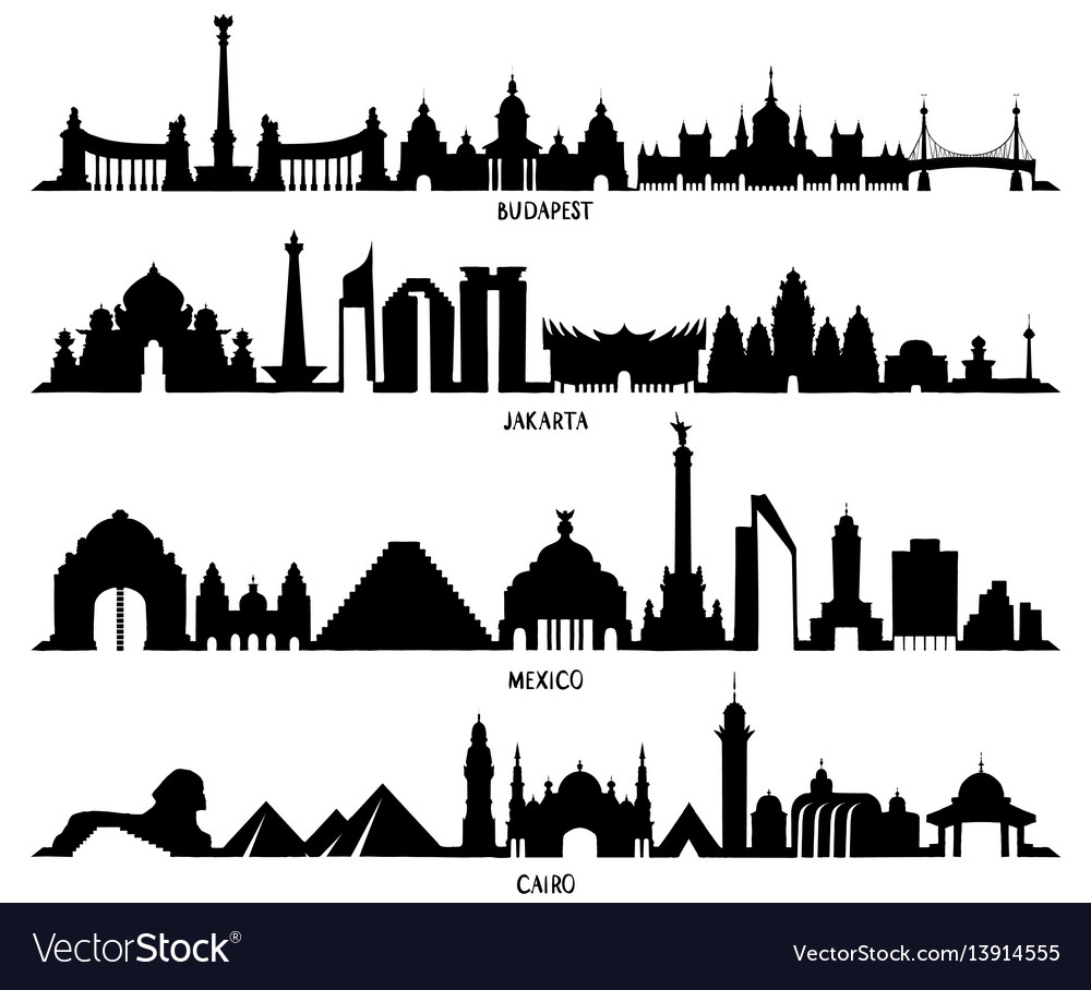 Skyline with historic architecture mexico