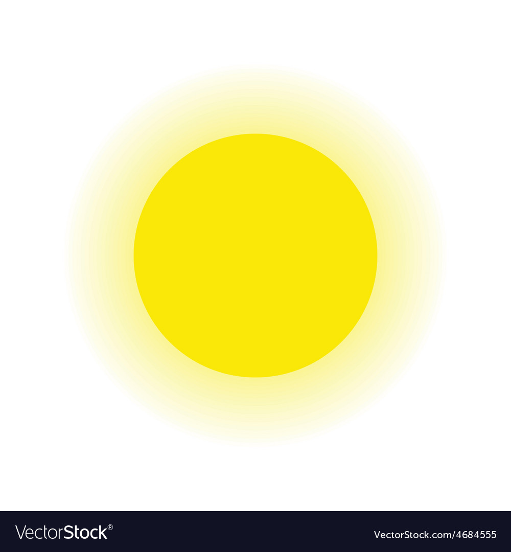 Sun and ray isolated white background