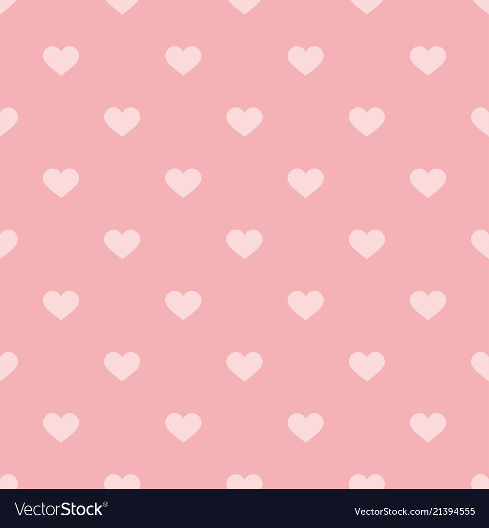 Tile pattern with pink hearts on pastel background