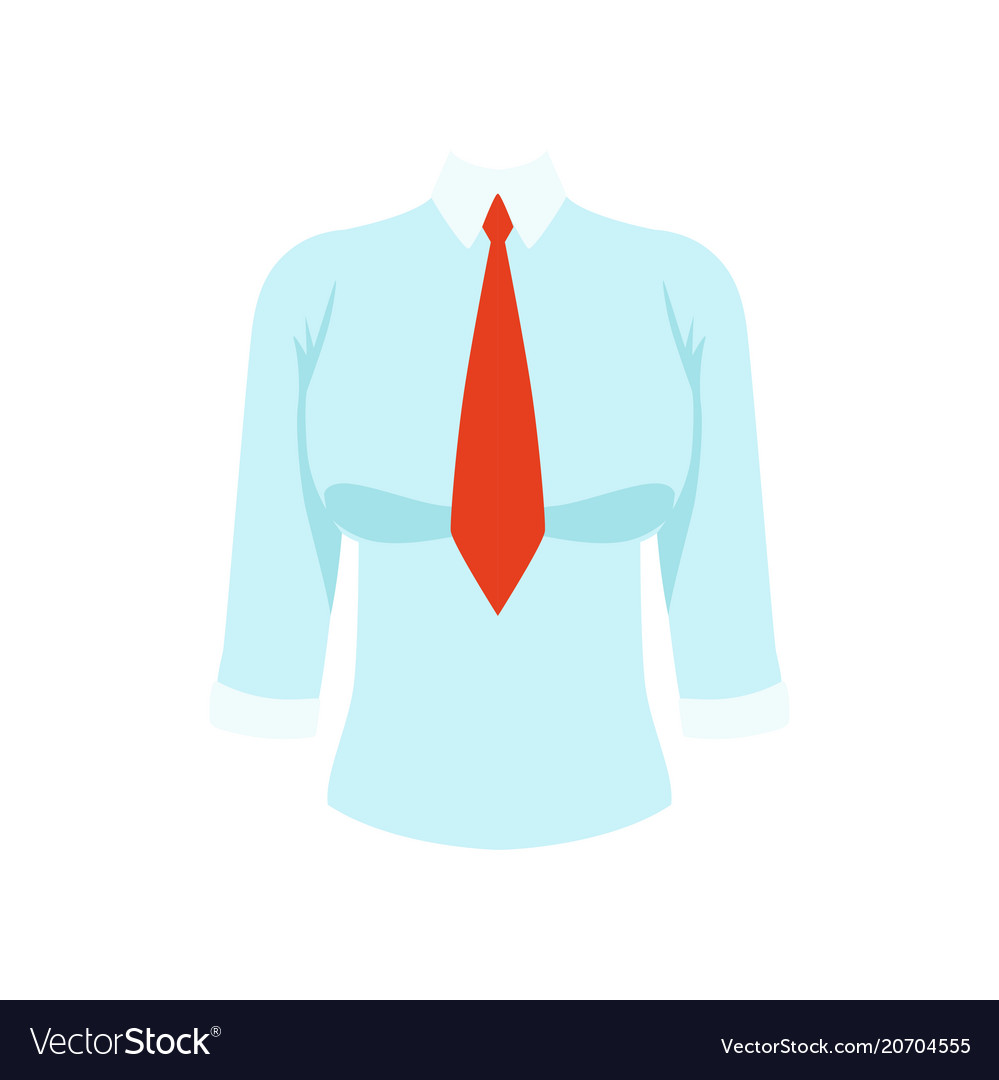 White shirt with red tie womens business clothing