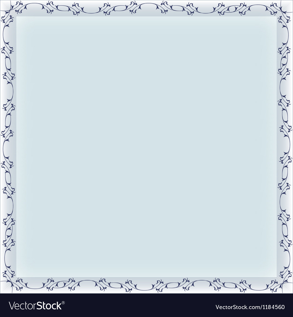Blank frame banner template Royalty Free Vector Image