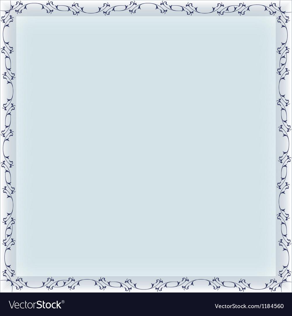 Blank frame banner template