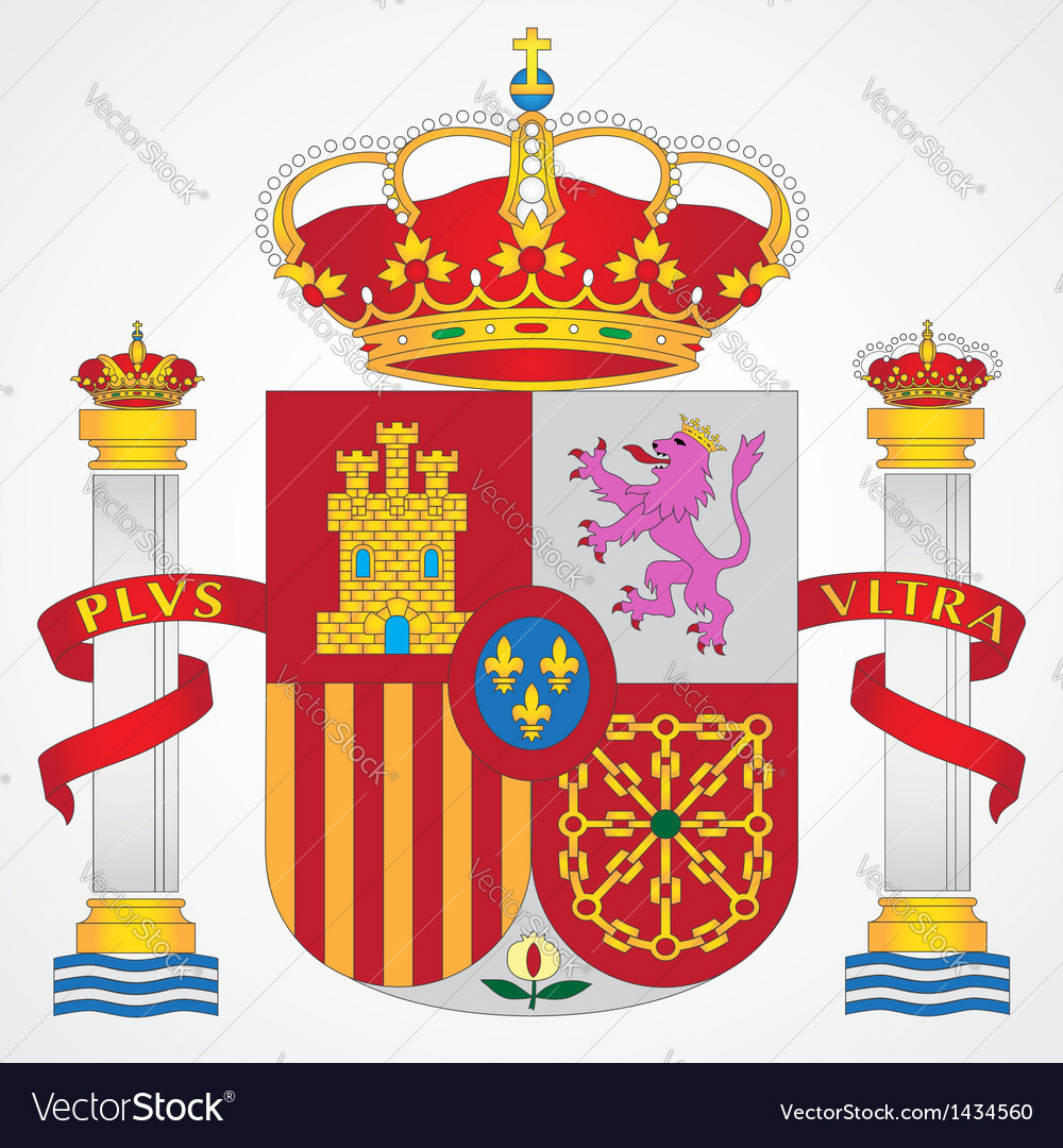 Coat of Arms of Spain vector image