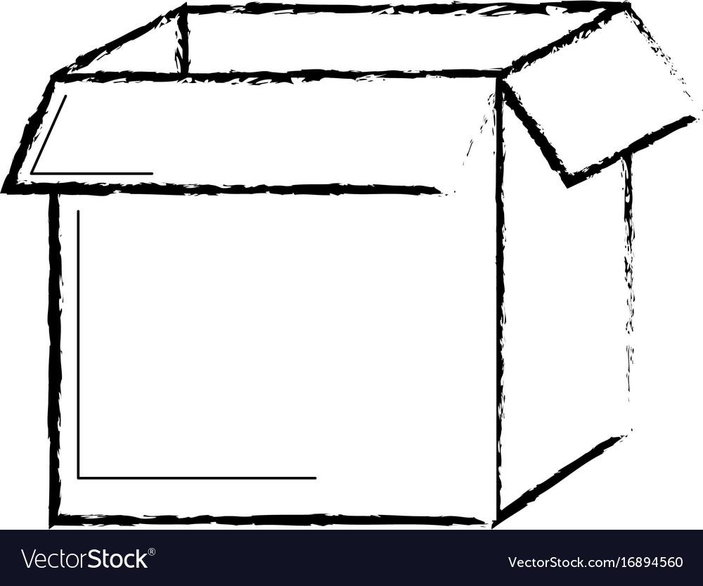 Figure square box package open design