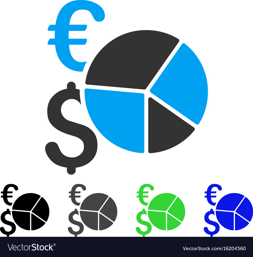 Financial pie chart flat icon